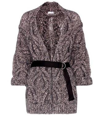 cardigan mohair wool grey sweater