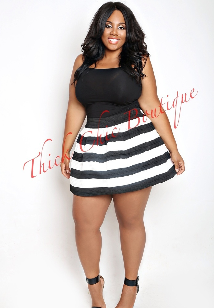 Banded Skater Skirt | Thick Chic Boutique