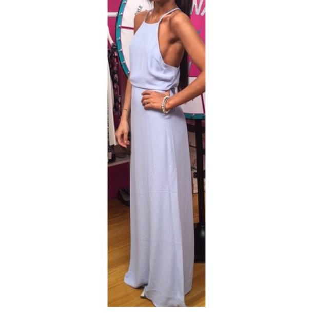 dress long dress lavander dress