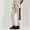 Sports panel track pant - beige/white