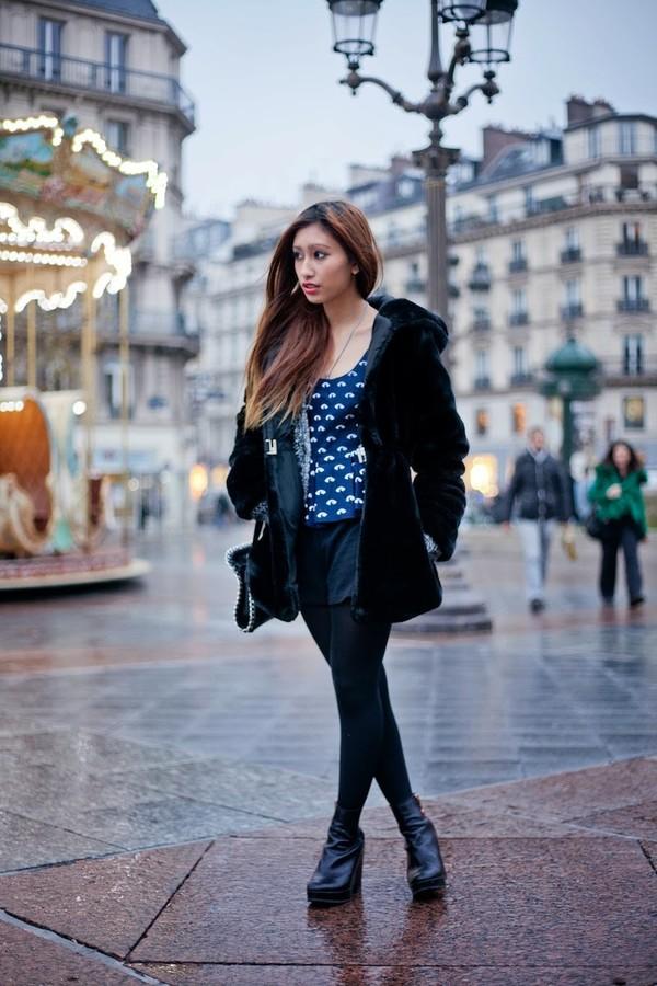 rosa pel's blog coat t-shirt shorts shoes bag