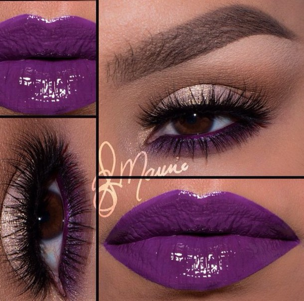 make-up purple love the colours lipstick