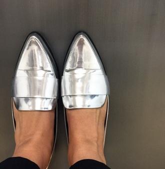 shoes silver shoes metallic metallic silver shoes