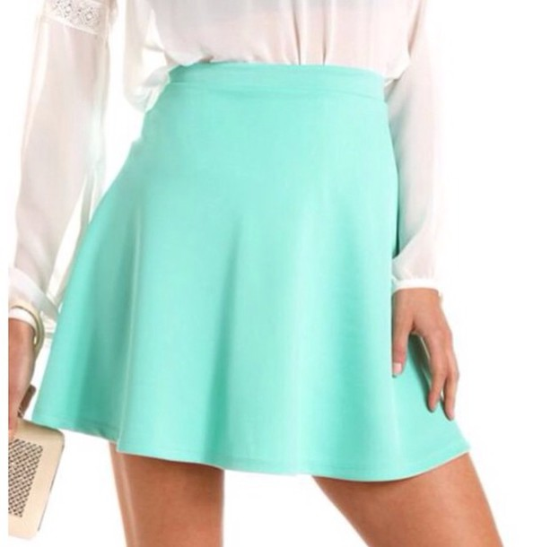 2f68846e3 skirt, aqua, mint blue, short skirt, short - Wheretoget