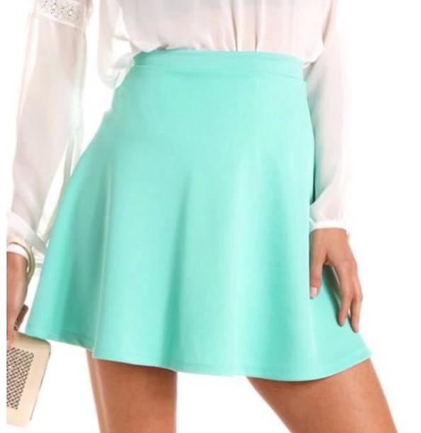 skirt aqua mint blue skirt wheretoget
