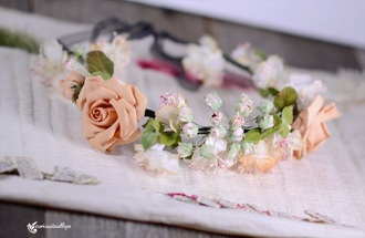 hair accessory flower crown flowers flower headband head jewels hair band headpiece headband spring spring outfits style summer wedding accessories vintage vintage flower prom dress elegant roses roses flowers spring rose rose pink rose crown hipster wedding romantic