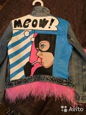 jacket,pop art,denim jacket