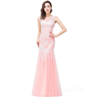 dress pink dress mermaid prom dress prom dress prom prom gown long dress lace dress long prom dress vestidos de madrina evening dress long evening dress dresses evening