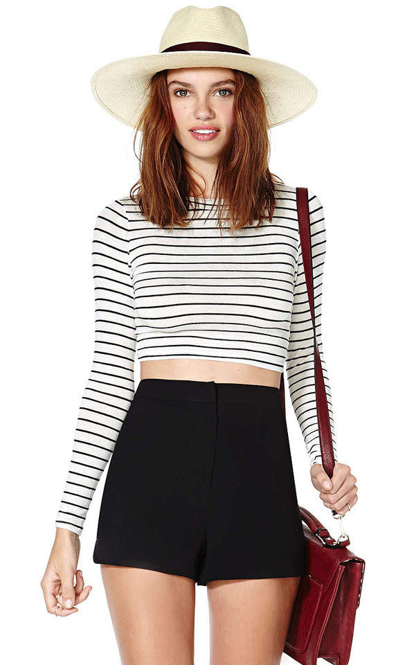 Basic Striped Crop Top