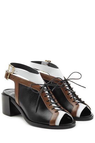 open colorblock sandals black shoes
