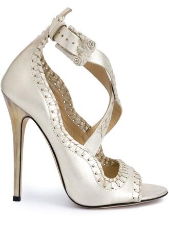 women sandals suede grey metallic shoes