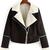 Black Lapel Oblique Zipper Crop Coat -SheIn(Sheinside)