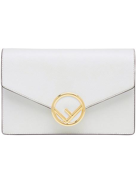 Fendi mini women bag mini bag leather white cotton