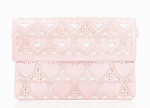 chic pink bag purse hearts wallet girly