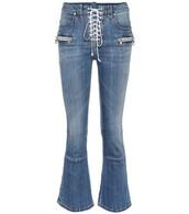 jeans,lace,blue