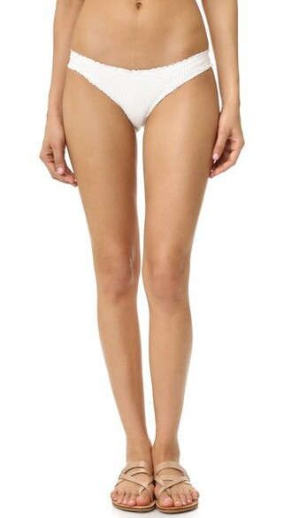 bikini bikini bottoms basic white swimwear