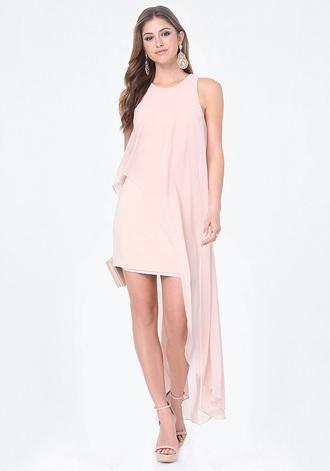 blouse dress blush pink bebe rose pink