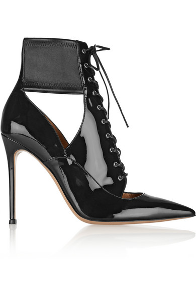 Gianvito Rossi | Lace-up patent-leather ankle boots | NET-A-PORTER.COM