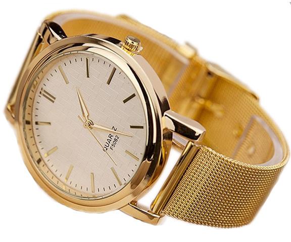 Golden textured watch