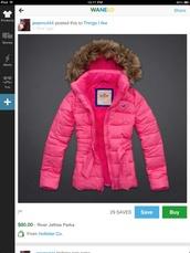 coat,hollister,pink