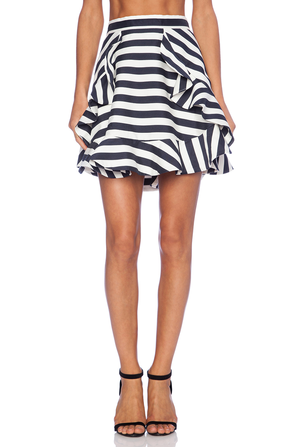 Cameo oceans flare skirt in bold stripe from revolveclothing.com