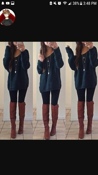 sweater navy blue off the shoulder sweater