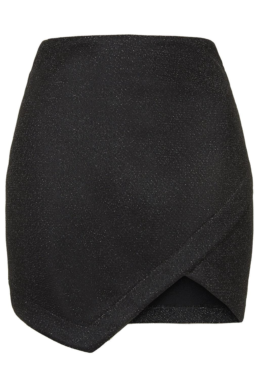 Tinsel Wrap Mini Skirt - Petite - Clothing