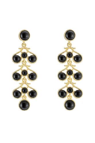 embellished earrings black jewels