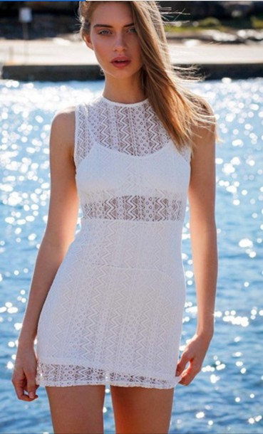 dress white summer holidays