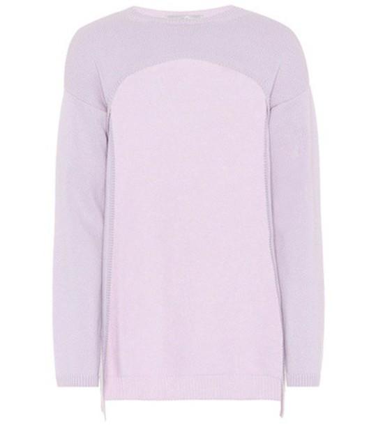 Valentino Cropped cashmere sweater in purple