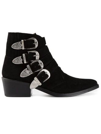 boot women suede black shoes