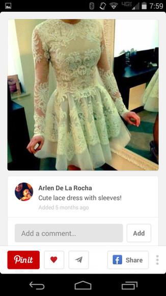 homecoming dress lace dress evening dress cream