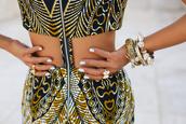 dress,cut offs,open backed dress,open back,ethnic print,jewels,yellow dress,tribal pattern,tumblr,mini dress,little black dress,zip,top,skirt