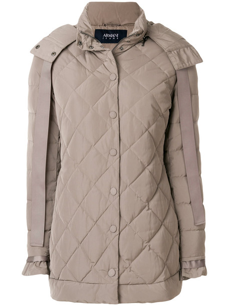 ARMANI JEANS jacket women quilted nude