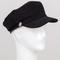Black corduroy cabby hat