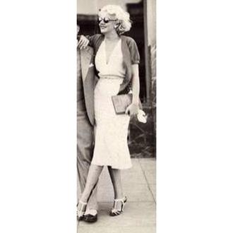 dress jean harlow 1930s vintage shoes sunglasses