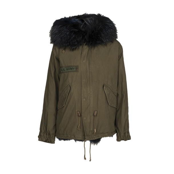 As65 jacket fur green army green