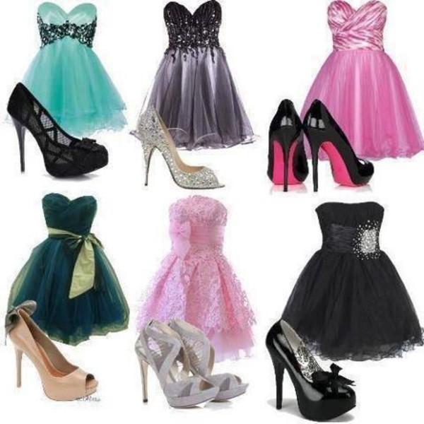 Фото платьев и обуви