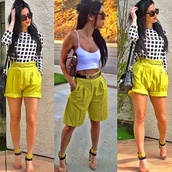 shorts,bermuda,neon,yellow