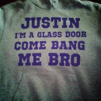 sweater justin glass door purple bang bro justin bieber skreened