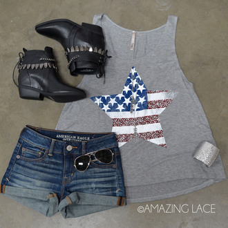 shirt stars stripes usa patriotic boots spring outfits spring summer fashion outfits outfit ootd