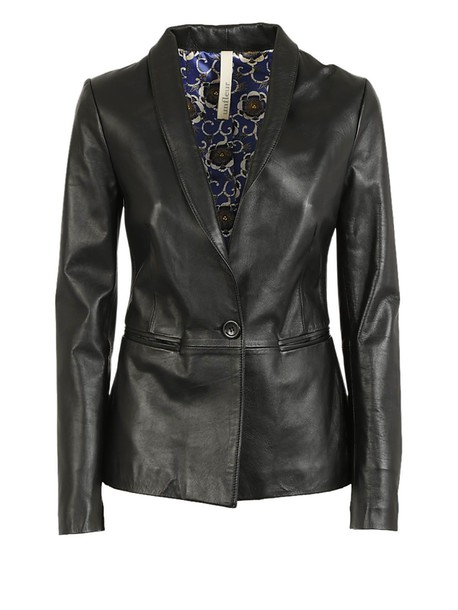 Unfleur blazer leather black jacket