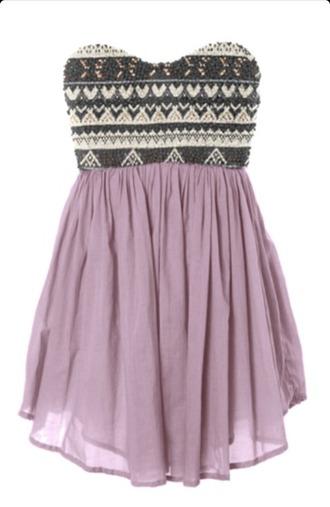 dress purple dress casual dress strapless dress summer dress