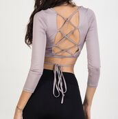 top,girly,girl,girly wishlist,chiclook closet,backless,trendy,chic,classy,blouse,girly wishist,strappy,tie up,lace up,cute,crop,crop tops,cropped