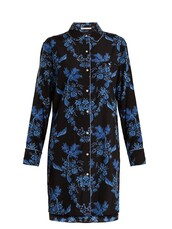shirtdress,silk,blue,dress