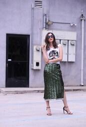 inspades,blogger,skirt,t-shirt,shoes,sunglasses