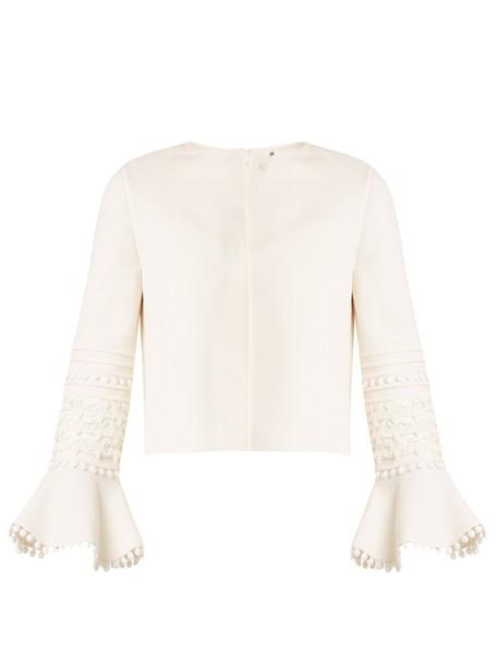 oscar de la renta jacket cropped jacket cropped wool cream