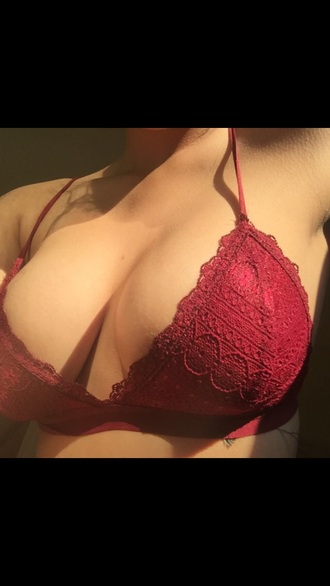 top lace red bralette