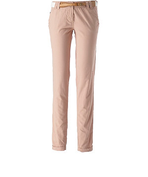 Belted roll up chinos