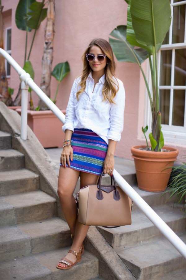 gal meets glam blogger skirt shoes bag sunglasses jewels